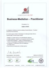 thumb Zertifikat Business Mediation Practicioner